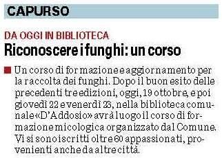 Ritagli de La Gazzetta del Mezzogiorno del 19/10/2015.